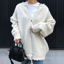 Women Knitted Cardigan Sweaters 2021 Fashion Spring Autumn Korea New Style Sweater Coat Chic Ladies