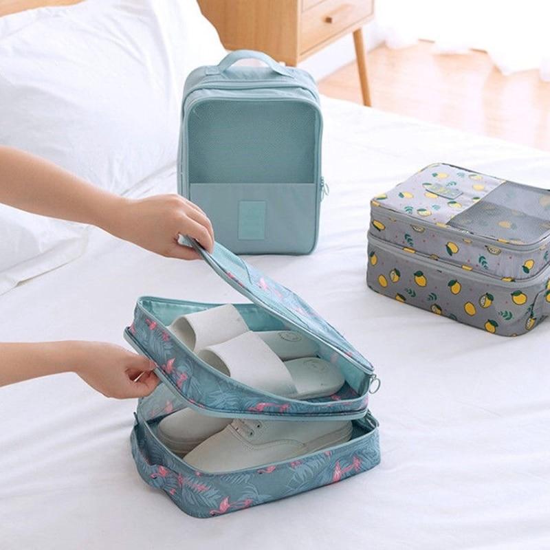 Portable Travel Shoes Organizer Bag Waterproof Dustproof Shoe Cover Storage Bags For Women Men Sports Shoes Package Storage Case недорого
