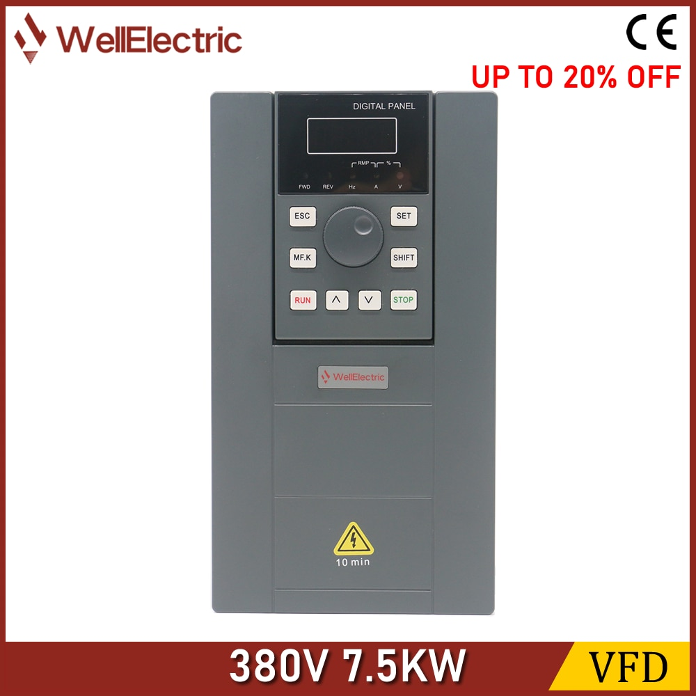 VFD Inverter 1.5KW/2.2KW/3.7KW/5.5KW/7.5KW 380V V/F control for Motor Speed Control Frequency Inverter freeshipping 11kw 3 phase 380v 25a frequency inverter vsd vector control 11kw frequency inverter vfd 11kw