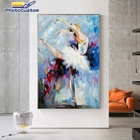photocustom acylic painting by numbers ballet dancer handpainted frame paints by numbers figure on canvas gift wall decor