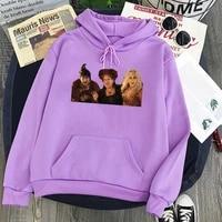 the sisters sanderson sweatshirts vintage halloween printing hoodies women streetwear winter clothes 2021halloween print top xl
