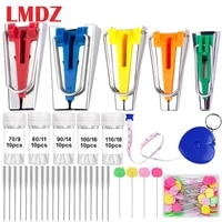 lmdz fabric bias tape maker kit sewing pins domestic sewing quilting machine needles diy patchwork quilting tool patchwork pins