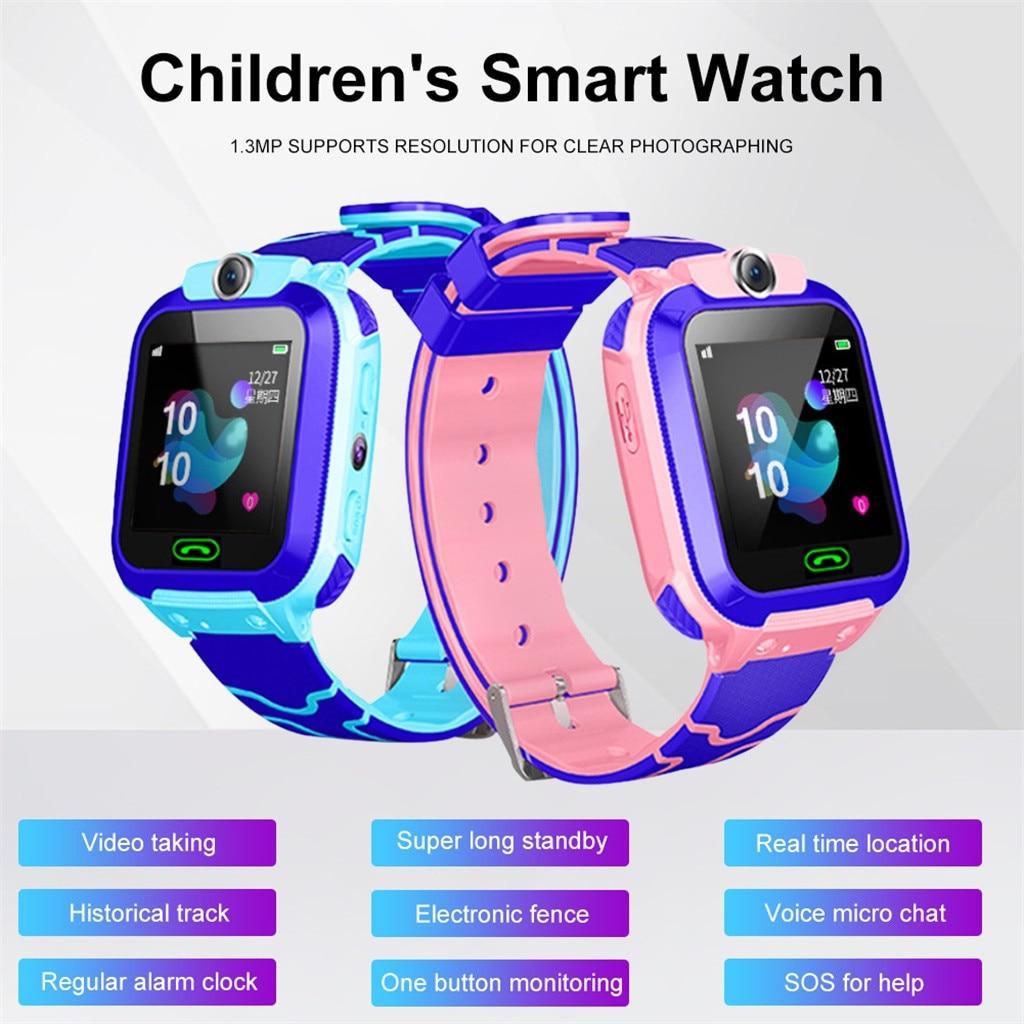 Localizador de pantalla táctil a Color HD para niños, rastreador de reloj inteligente SOS 4mergency Call Anti-lost, reloj impermeable, rastreador deportivo #10