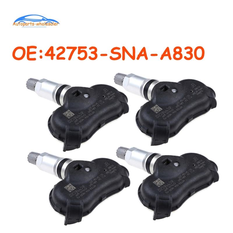 Датчик давления в шинах Honda CRZ Insight odysley Element Civic TPMS, 42753-SNA-A830 42753SNAA830 42753SNAA830M1, 4 шт./лот