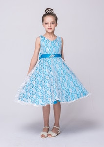 Children Prom Clothes Princess Party Wear Gowns Sleeveless Tulle Flower Kids Frock Pageant Children Outfits for Girls