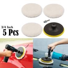 5 pz/set tampone di lucidatura per lucidatore per Auto 4 pollici lucidatura cerchio lucidatura Pad Kit di strumenti per dischi lucidatore per Auto prodotti per la pulizia automatica