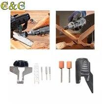 HILDA scie à chaîne affûtage accessoire aiguiseur Guide perceuse adaptateur avec outil de jardin pour Dremel perceuse accessoires rotatifs