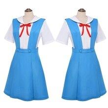 New Anime Evangelion Halloween Women Cosplay Asuka Langley Soryu Tokyo Ayanami Rei Costume School Uniform