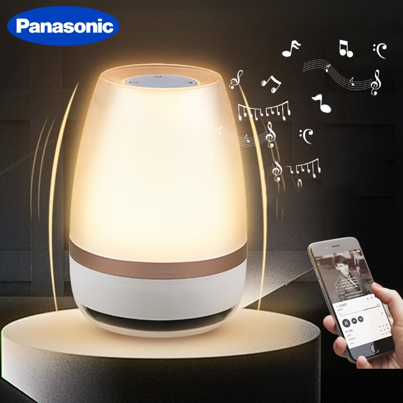 Panasonic Night Light Touch Sensor Bluetooth Speaker Light Remote Control Wireless LED Light Smart Music Table Lamp
