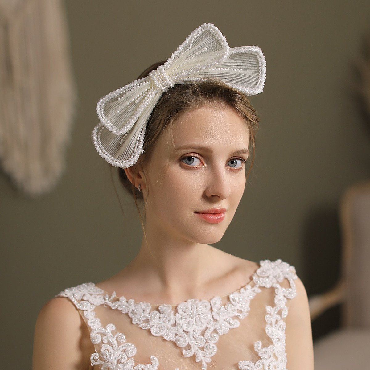 الجنية القوس الزفاف أغطية الرأس اللؤلؤ اكسسوارات الزفاف