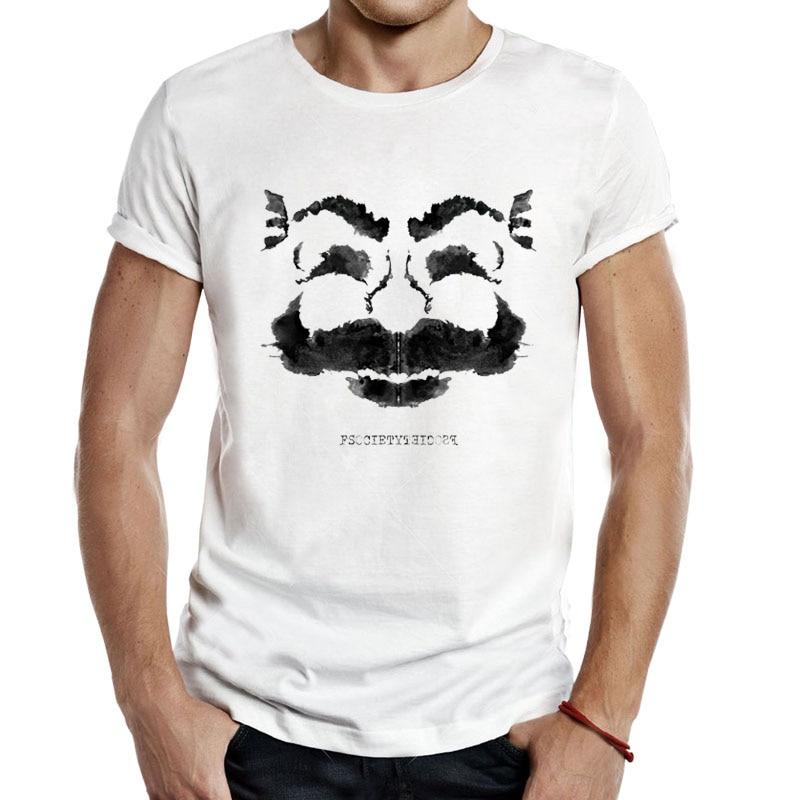 Mr robot mr. inkblot t-shirts masculino topos tv elliot alderson tinta blot teste tinta splatter programas de tv fsociety t camisa casual q271