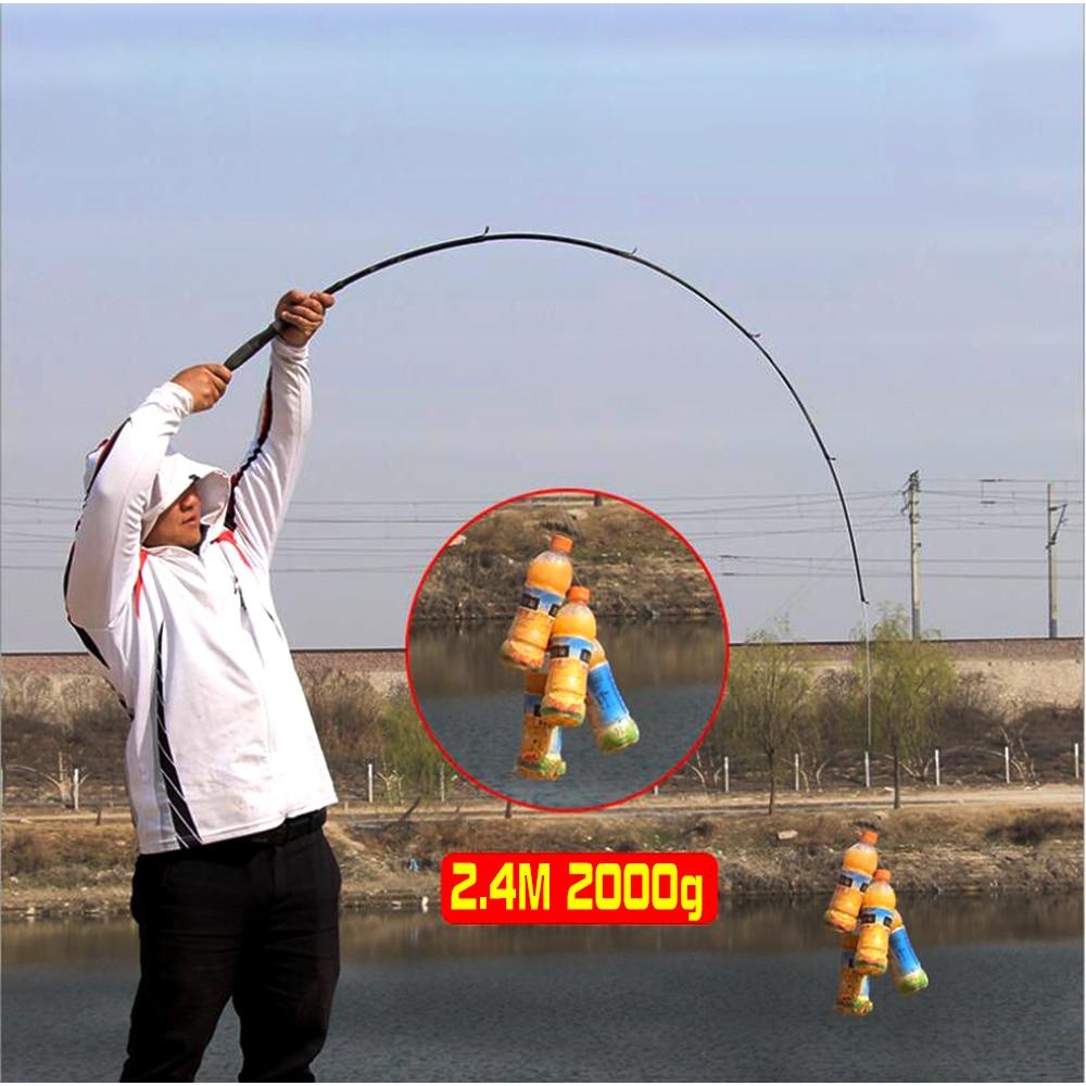 GHOTDA Telescopic Lure Fishing Rod 1.6/1.8/2.1/2.4 M Ultralight Carbon Fiber Spinning Fishing Rod Lure weight 10-30 G enlarge