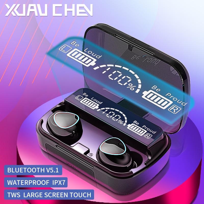 Wireless Bluetooth Headphones tws 5.1 Gamer Noise Canceling Headphones with Microphone HiFi LED Disp