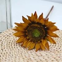 10pcs artificial sunflower silk flowers decoration home garden wedding layout floral photography props fake flowers bouquet