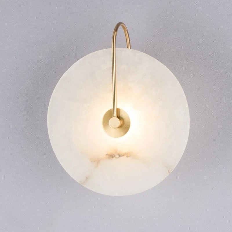 Zerouno Modern Sconces Lamp Wall Lights Marble Lampshade LED Lighting Fixture for Home Decor bedroom Lamps Black Gold Lampadas