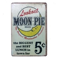 look out moon pie pub home vintage retro poster cafe art metal tin sign mental pating decoration