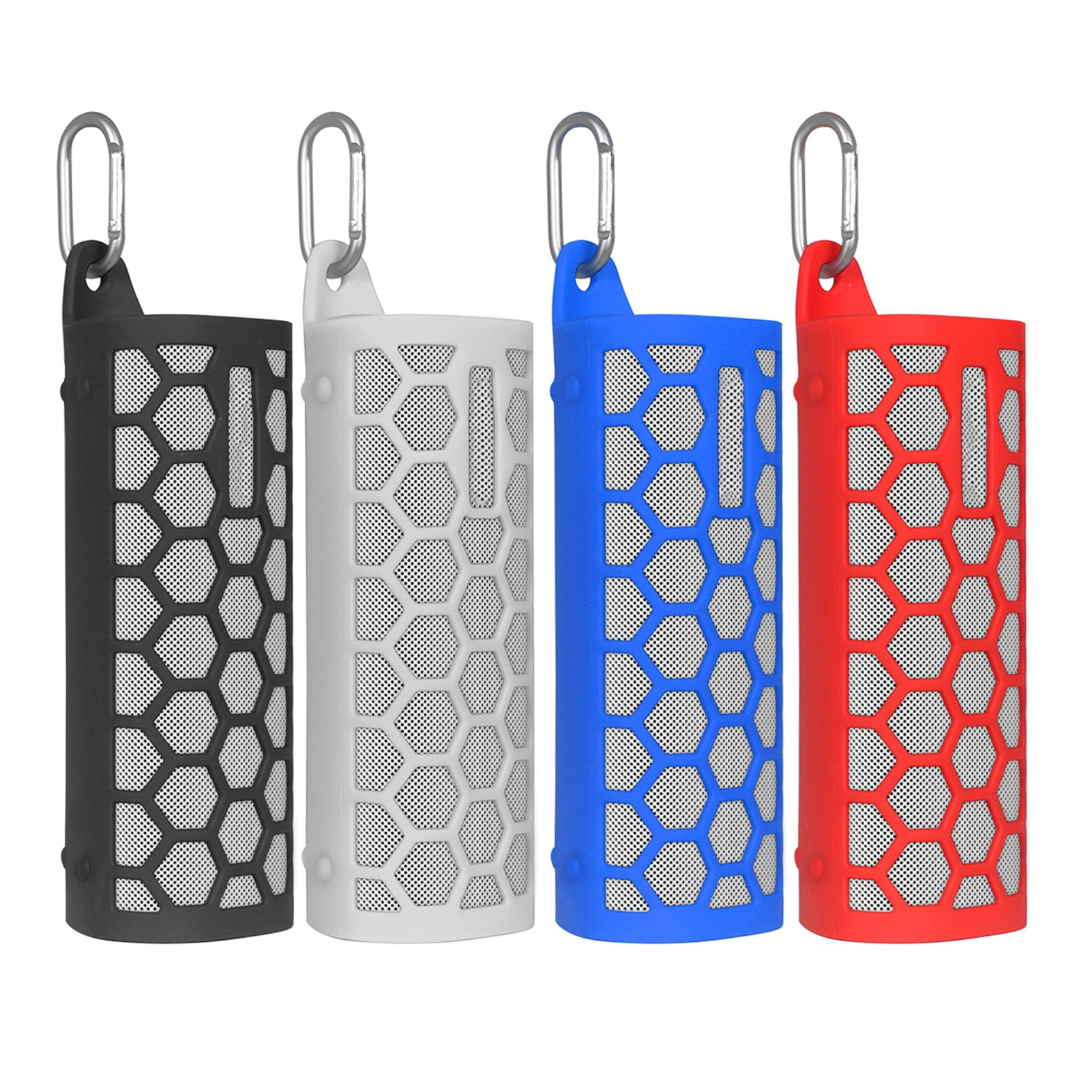 Soft Silicone Case Protective Cover Shell With Carabiner Case Skin Sleeve Compatible For Sonos Roam Speaker Sweatproof