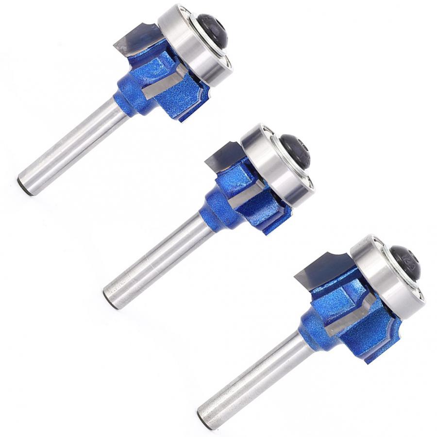 4-dente redondo afiação fresa 8mm / 0.3in roteador bit para aparadores elétricos máquinas de gravura