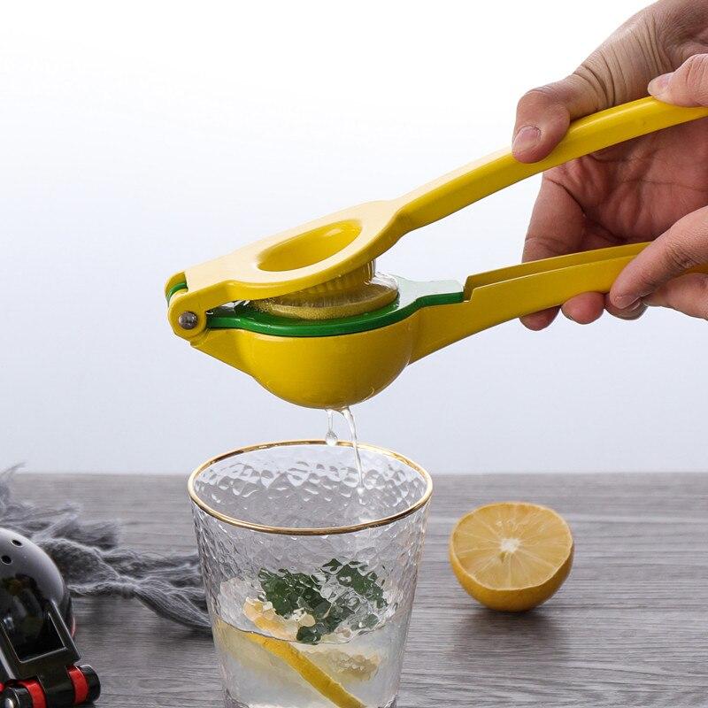 عصارة الليمون المعدنية مع وعاء مزدوج ، عصارة يدوية ليمون وبرتقال ، أواني مطبخ