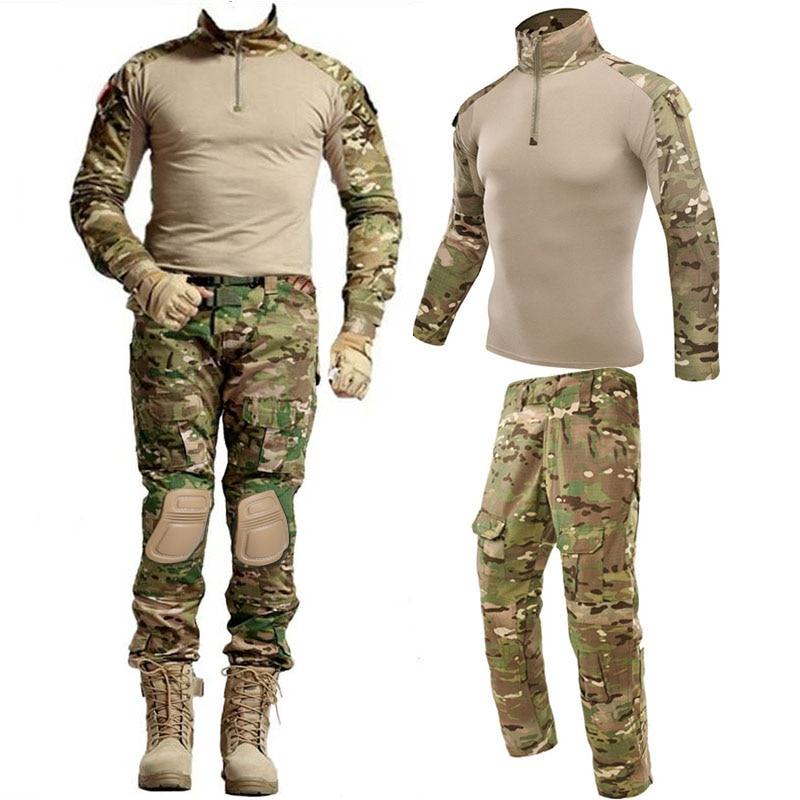 Тактические костюмы для страйкбола в стиле милитари, Униформа, тренировочный костюм, камуфляжные рубашки в охотничьем стиле штаны, Пейнтбо...