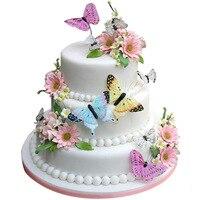 100/360 шт., съедобные цветы, Бабочка, вафельная рисовая бумага, топперы для торта, украшения торта, товары для дня рождения, свадьбы, вечеринки