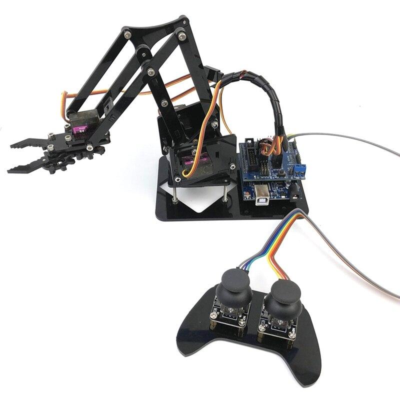 4DOF manipulador para Arduino brazo robótico Control remoto Mg90S Arduino Robot brazo Kit de aprendizaje montaje Robot programación Arduino