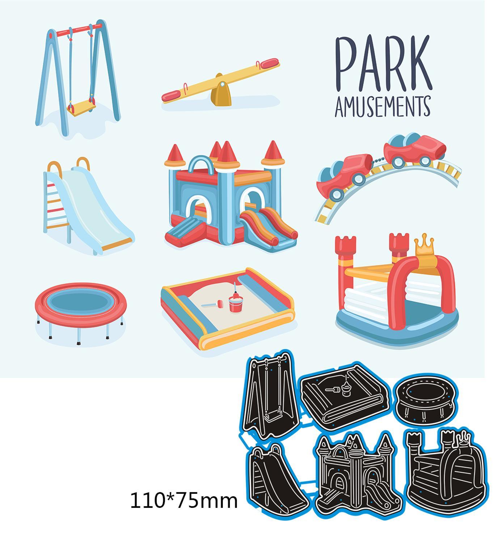110*75mm Park Amusements Cutting Metal Dies New Stencils DIY Scrapbooking Paper Cards Craft Making C