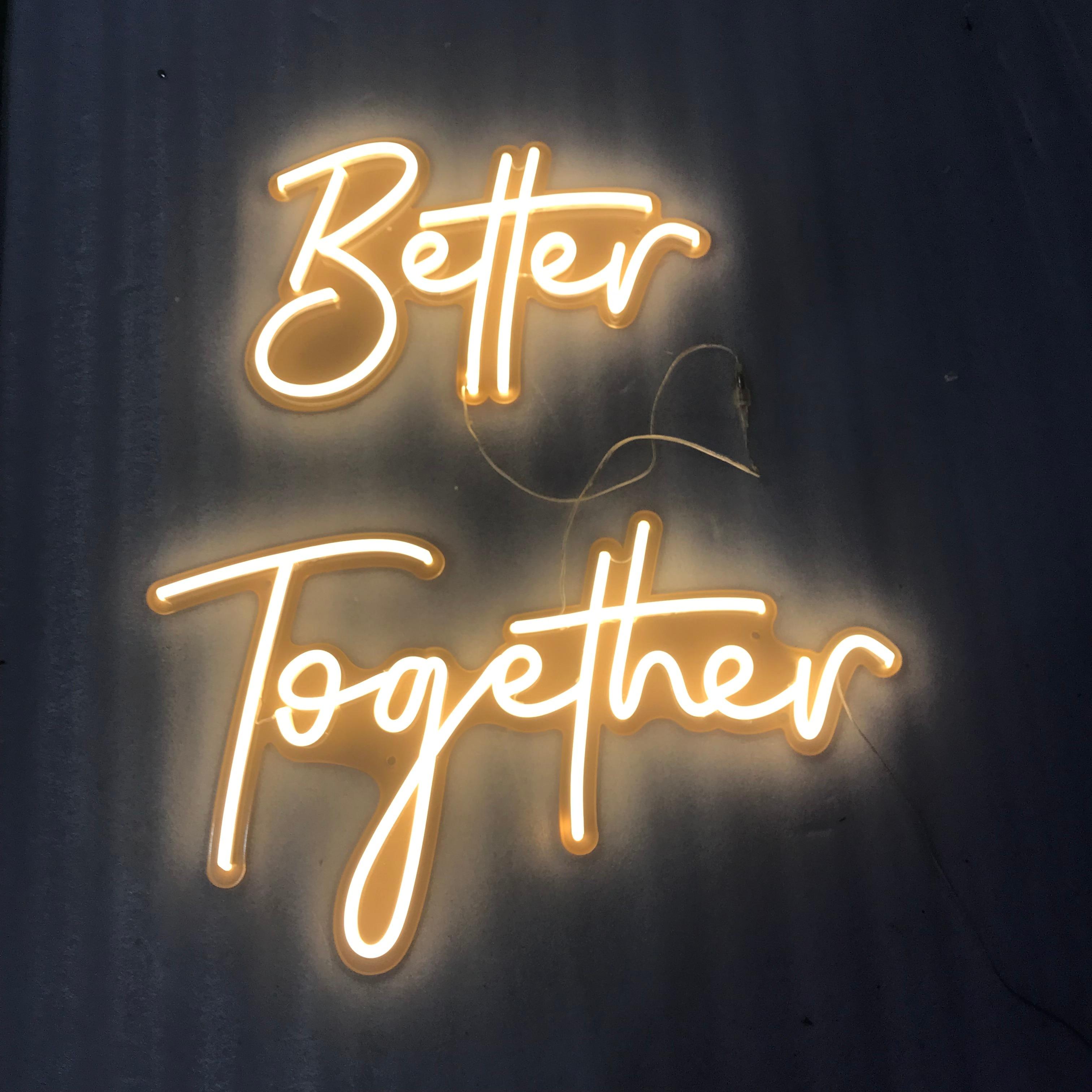 Custom Flex Led  Better Together 12V  Wedding Party Decoration Bedroom Home Wall Decor Use Indoor Outdoor enlarge