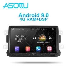Asottu DA601 android 9,0 PX6 dvd del coche para Dacia/Sandero/Duster/Renault/Captur/Lada/rayos X 2/ Logan navegación GPS, reproductor para coche
