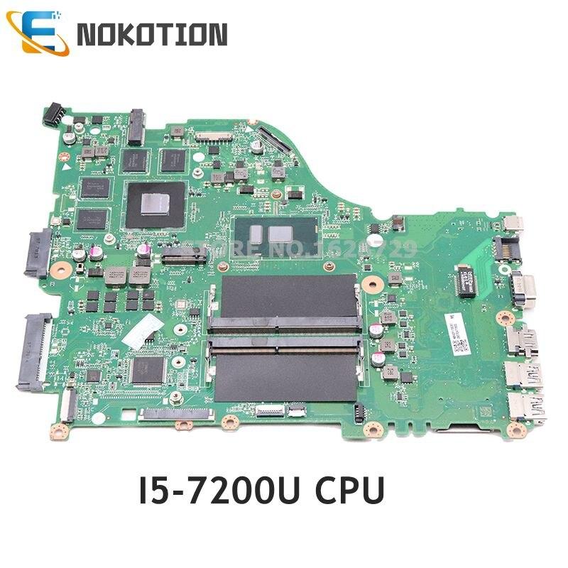 NOKOTION DAZAAMB16E0 NBGDF1100B NB. GDF11.00B Pour Acer aspire E5-575 E5-575G ordinateur portable carte mère SR2ZU I5-7200U CPU GTX950M DDR4