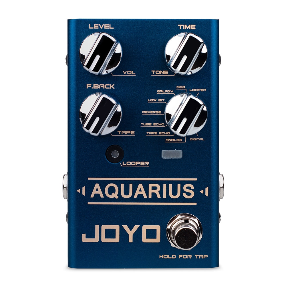 rowin tiny looper electric guitar effect pedal 10 minutes of looping unlimited overdubs JOYO R-07 AQUARIUS LOOPER + Delay Pedal Effect Digital Delay Pedal 8 Delay Effects Mini LOOPER Pedals for Electric Guitar