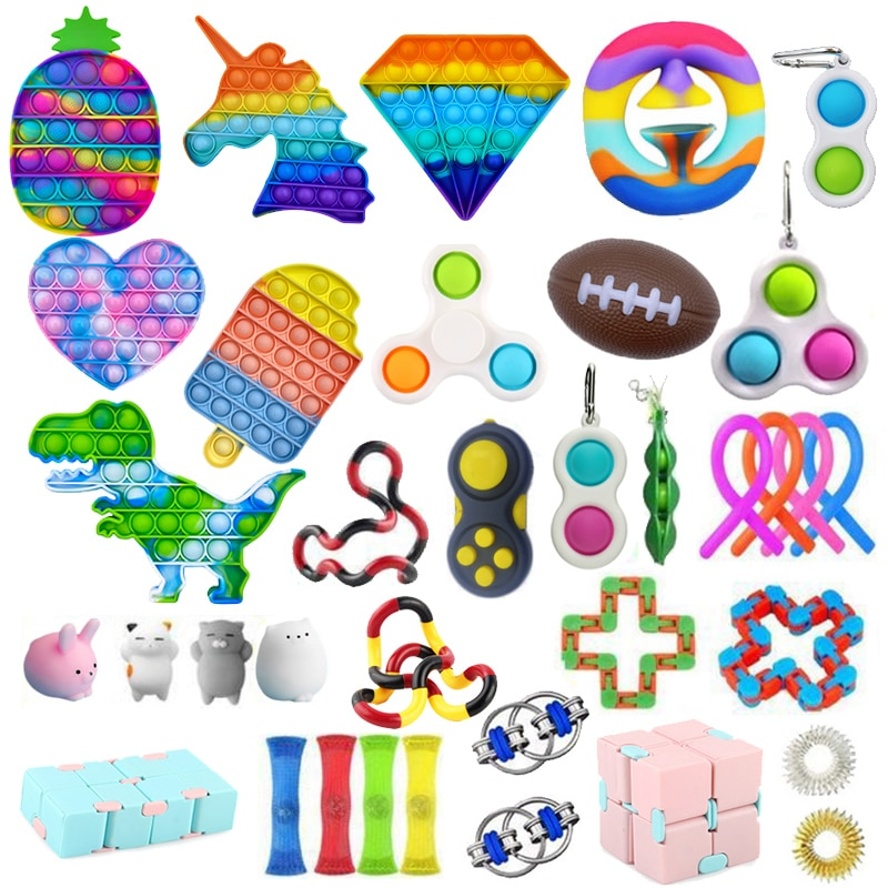 AliExpress - Push Bubble Fidget Toys Anti Stress Set Strings Relief Adults Children Sensory Squishy Antistress Relief Anti Stress Figet