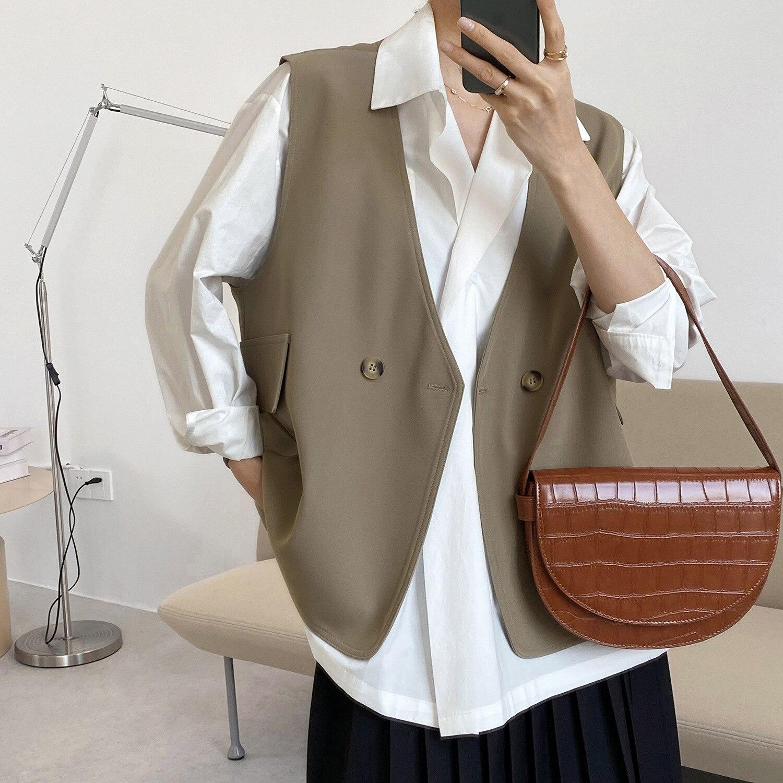 Chaleco de estilo coreano con cuello en V para Mujer, ropa de...