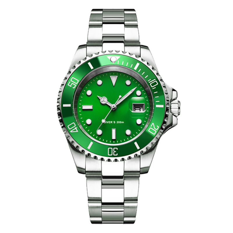 ADDIES Dive Watch 200m 2115 Quartz Watches Men C3 Super Luminous Calendar Diving Watch Fashion Stainless Steel Men's Watches