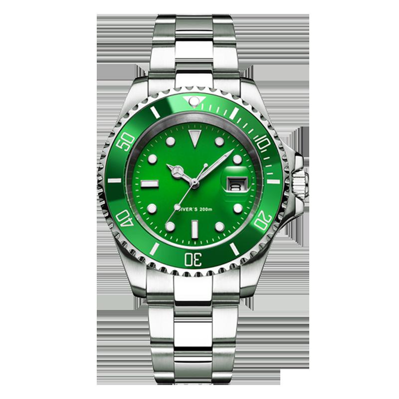 Часы для дайвинга ADDIES 200m 2115, мужские кварцевые часы C3 с супер светящимся календарем, модные мужские часы из нержавеющей стали для дайвинга