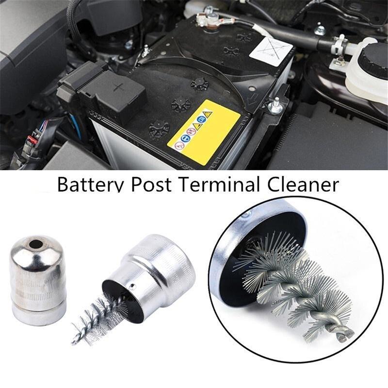 La limpieza del coche de la batería de Cable de Terminal limpiador de tierra a la corrosión cepillo mano herramienta de batería de alambre de escobillas coche CUIDADO DE LIMPIEZA