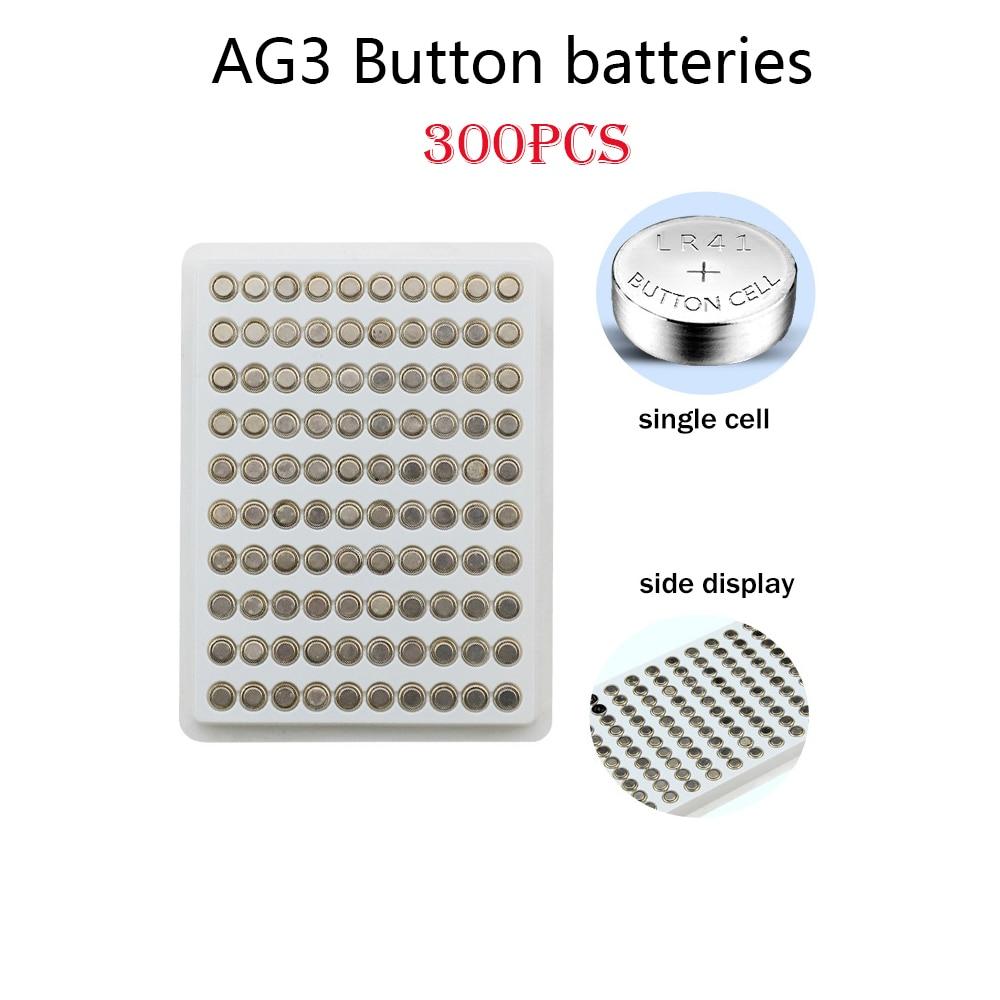 AG3 300 шт., щелочные батарейки 35 мАч SR41 192, 1,55 в, L736 384 SR41SW CX41 LR41 392