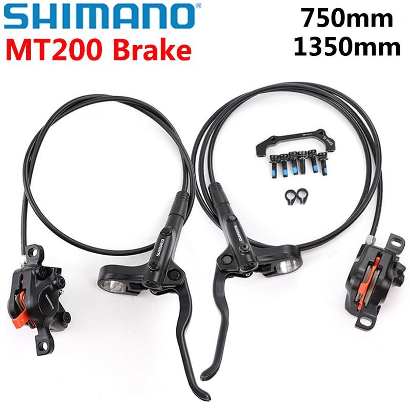 Shimano MT200 الدراجة الجبلية MTB الصحن الهيدروليكي الفرامل مجموعة وشملت MT200 الفرامل رافعة القرص الفرامل الفرجار Postmount