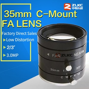 "3.0 Mega Pixel C Mount 35mm 2/3"" F1.4 FA / Machine Vision fixed focal length lenses Industrial camera manual  Iris CCTV Lens"