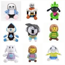 23-28cm Undertale Plush Toys Dolls Sans Frisk Chara Asriel Lancer Temmie Toriel Soft Stuffed Toys for Children Birthday Gifts
