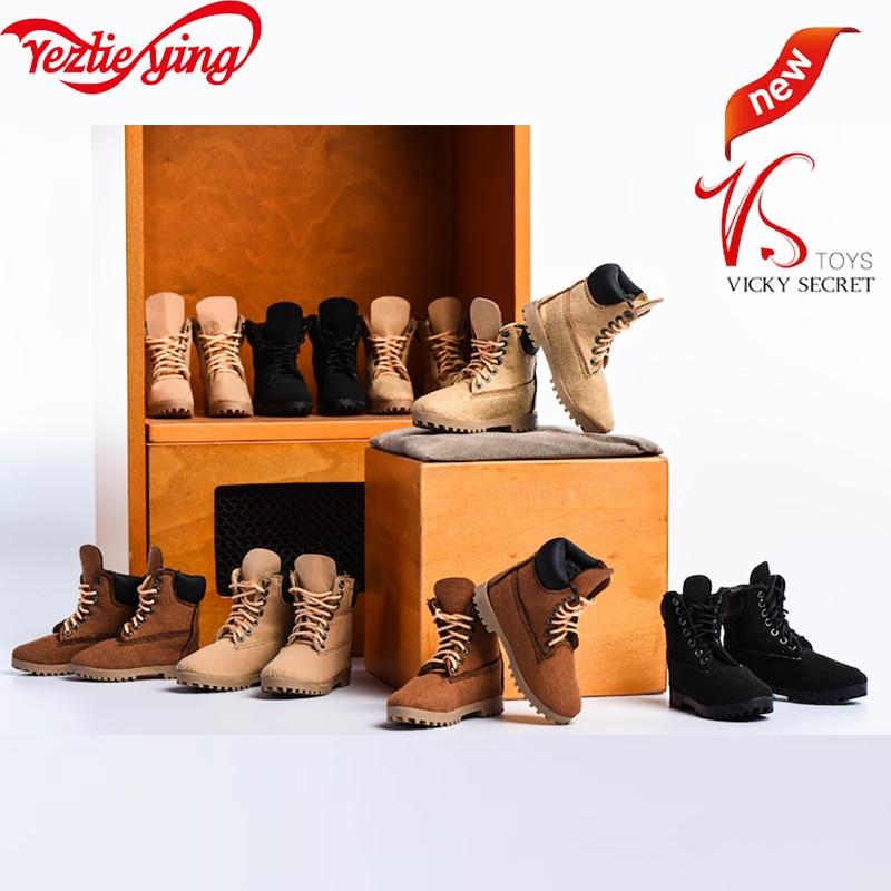 G22 macho/18XG023 1/6 escala botas de escalada de soldado femenino PVC zapatos de Trekking de alta calidad Modelo hueco para 12 figura de acción