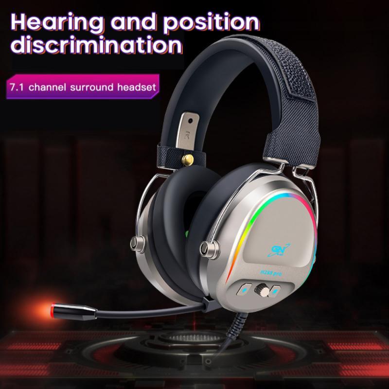 سماعة رأس سلكية 7.1USB واجهة الصوت المحيطي الألعاب سماعة مع ميكروفون مريحة لارتداء للكمبيوتر المحمول دعم دروبشيب