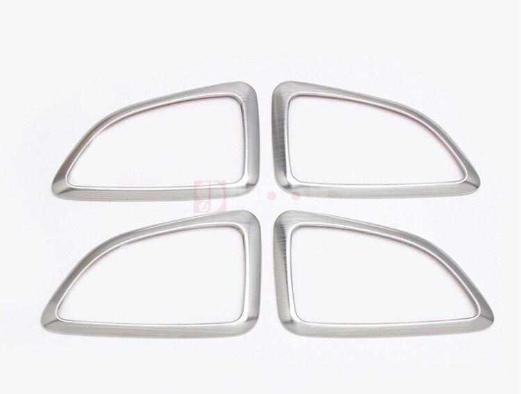 4 Uds manija de puerta interior de acero inoxidable cubierta de cuenco anillo de decoración embellecedor accesorios para Hyundai Tucson ix35 2011-2015