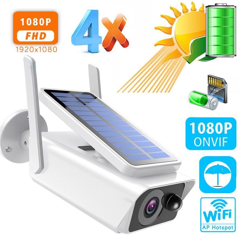 Cámara De seguridad De 1080P HD, videocámara Solar impermeable IP66 IP, WIFI,...