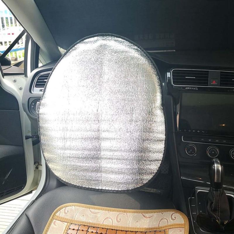 Car Steering Wheel Sun Shade Cover Heat-Resistence Sunshade Steering Cover Mat Car Accessories