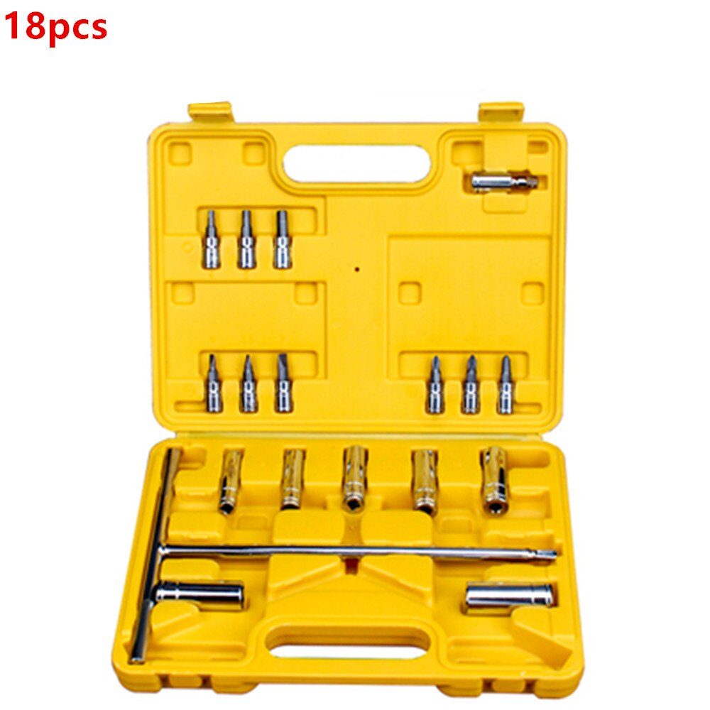 Car repair tool set Universal car tools complete car repair emergency toolbox tool storage and finishing toolbox