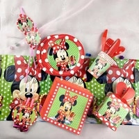 minnie mouse party decoration set wavepoint mickey party supplies straw cup plate fork baby shower birthday