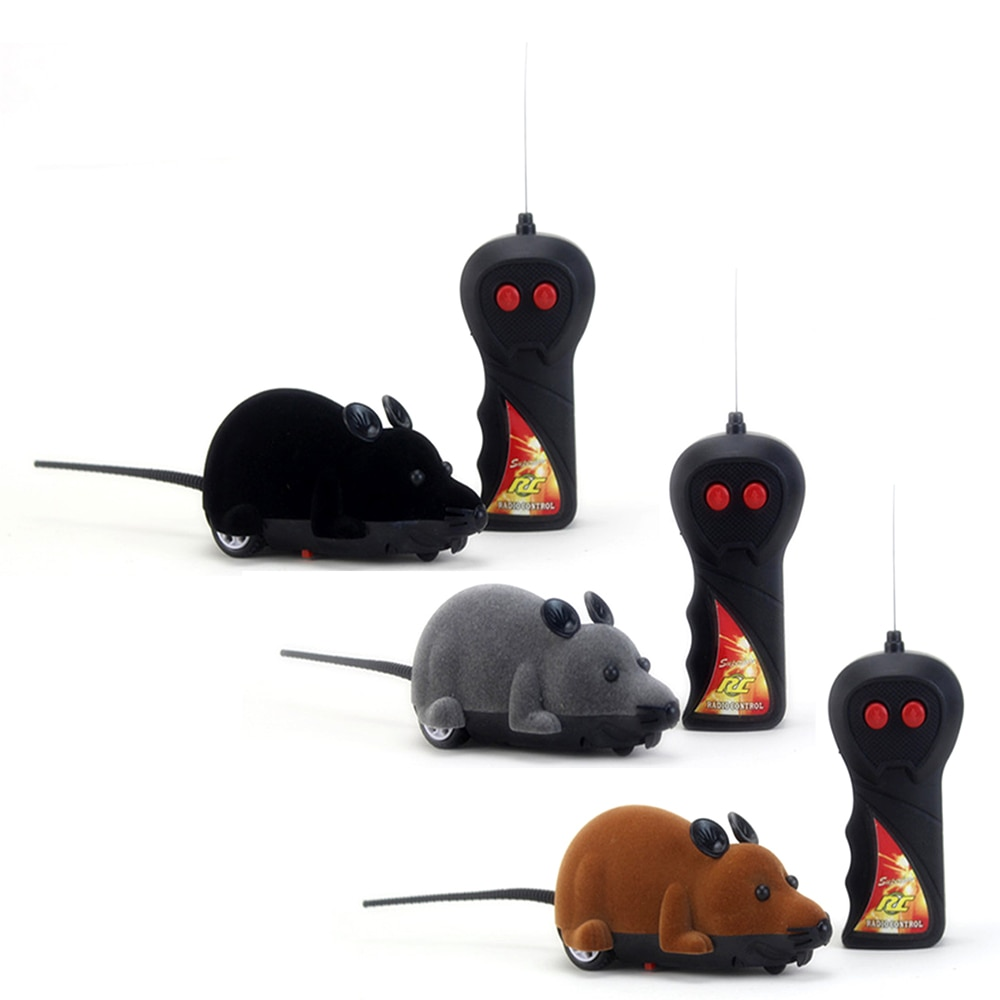 Funny things RC robot Animals prank Games Wireless Remote Control Electronic Rat Mouse Mice Toy For Cat Puppy Kids Toy Gifts
