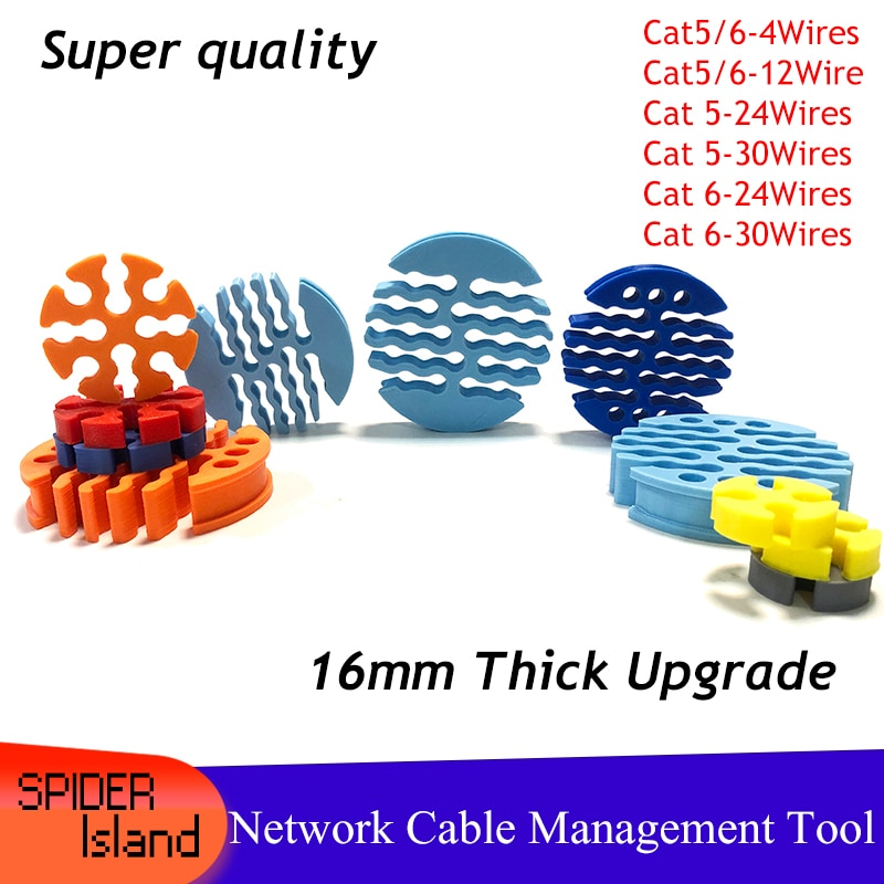 NEW category5 /category 6 Network cable Comb Machine Wire Harness Management Fixer tidy tools for computer room 4/12/24/30 Wires
