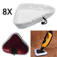 4pcs8pcs steam cleaner mop pad cloth replacement for h2o x5 mop microfibre triangle cleaning pad steam cleaner mop pad